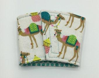 Camels Coffee Cup Cozy, Coffee Cup Sleeve, Cup Cozy, Cup Sleeve, Reusable Coffee Sleeve