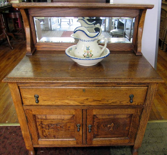 Tiger oak washstand child size!