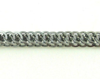 Chainmaille Half Persian Bracelet, 4-in-1, Chainmail Made With Square Wire Anodized Aluminum Rings