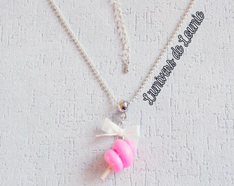 Candy Candy Floss cotton necklace / handmade