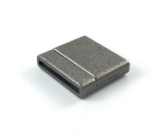 Matte Gunmetal Acrylic Magnetic Clasp, for 20mm flat leather