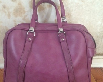 American Tourister Vinyl Luggage Bag - Purple Grape