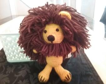 Lion crochet toy