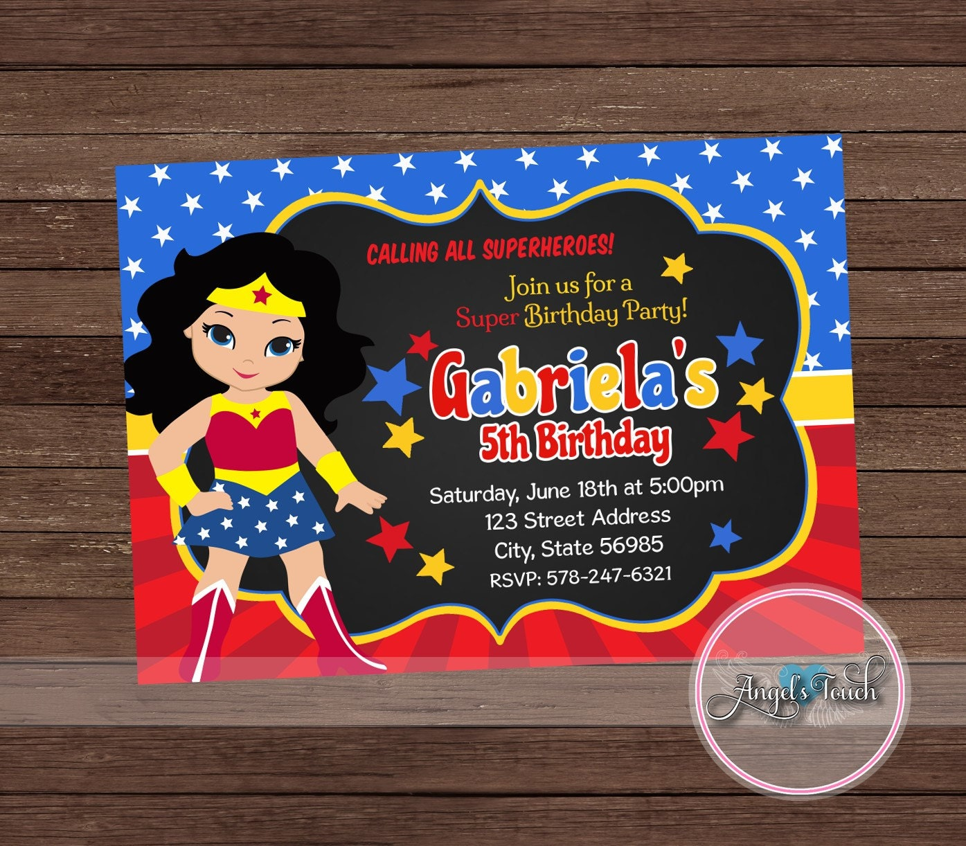 Wonder woman invitations birthday all the best invitation in 2018 wonder woman birthday wishes card funky pigeon filmwisefo Gallery