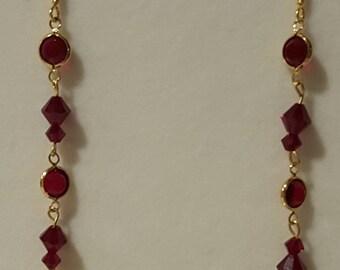 Swarovski Lady in Red Drop Earrings