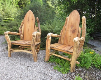 Oak storytelling chair throne