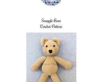 Snuggle Bear pattern - crochet pattern - crochet bear pattern - pattern only - large crochet bear pattern
