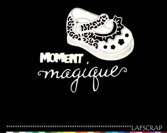 Cuts scrapbooking baby baby girl shoe cut out paper die cut embellishment