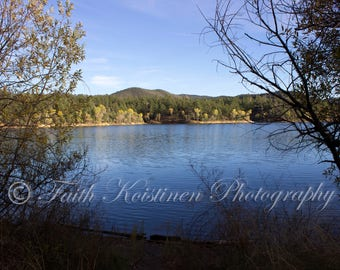 Lakes, Wall Art, Arizona Landscape, Photography, Water, Print- L'eau Bleue