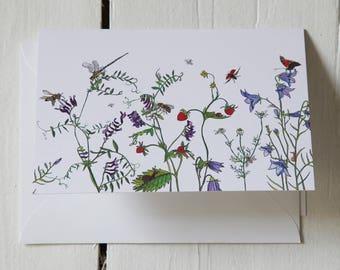 Wild Flower Greeting Card #GC17WF