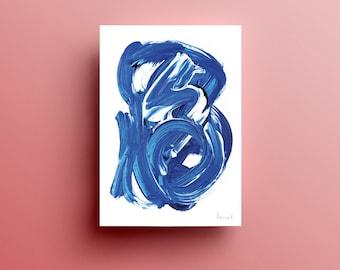 Printable wall art, Printable Art Print, Navy blue art, Minimalist Art, Abstract paintings instant download art, large abstract art, A2 art