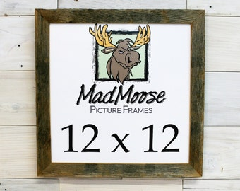 """12x12 BarnWood [Chunky x 1.25""""]  Picture Frame"""