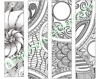 Bookmarks Coloring Printable, Instant Download. 20.