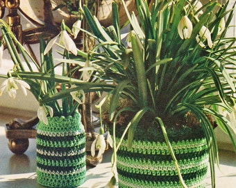 Crochet Pattern, Crochet Home Decor Pattern, Flowerpot and Vase Cover Patterns, Gift for Gardener, INSTANT Download Pattern PDF (1024)