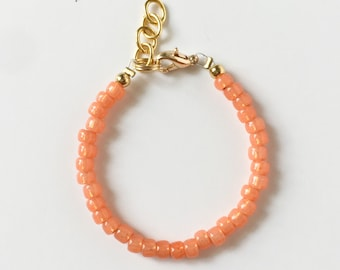 Cantelope Stacking Bracelet