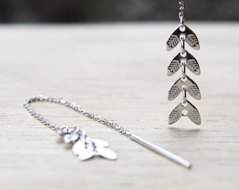 These earrings through leaf 925 sterling silver