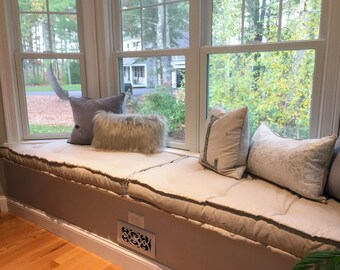 Window or Bench Seat Cushions Trapezoid Shape Custom Made EXAMPLE