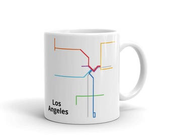 Los Angeles Ceramic Mug made in the USA