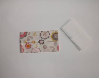 Tissue case, Holster, Holster bag, protective, flowers, gift idea fabric, cotton small price, Valentine's day gift idea