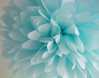 OCEAN tissue paper pompom star vs the forces evil party decorations pastel wedding decor blue first birthday poms baby boy shower cinderella