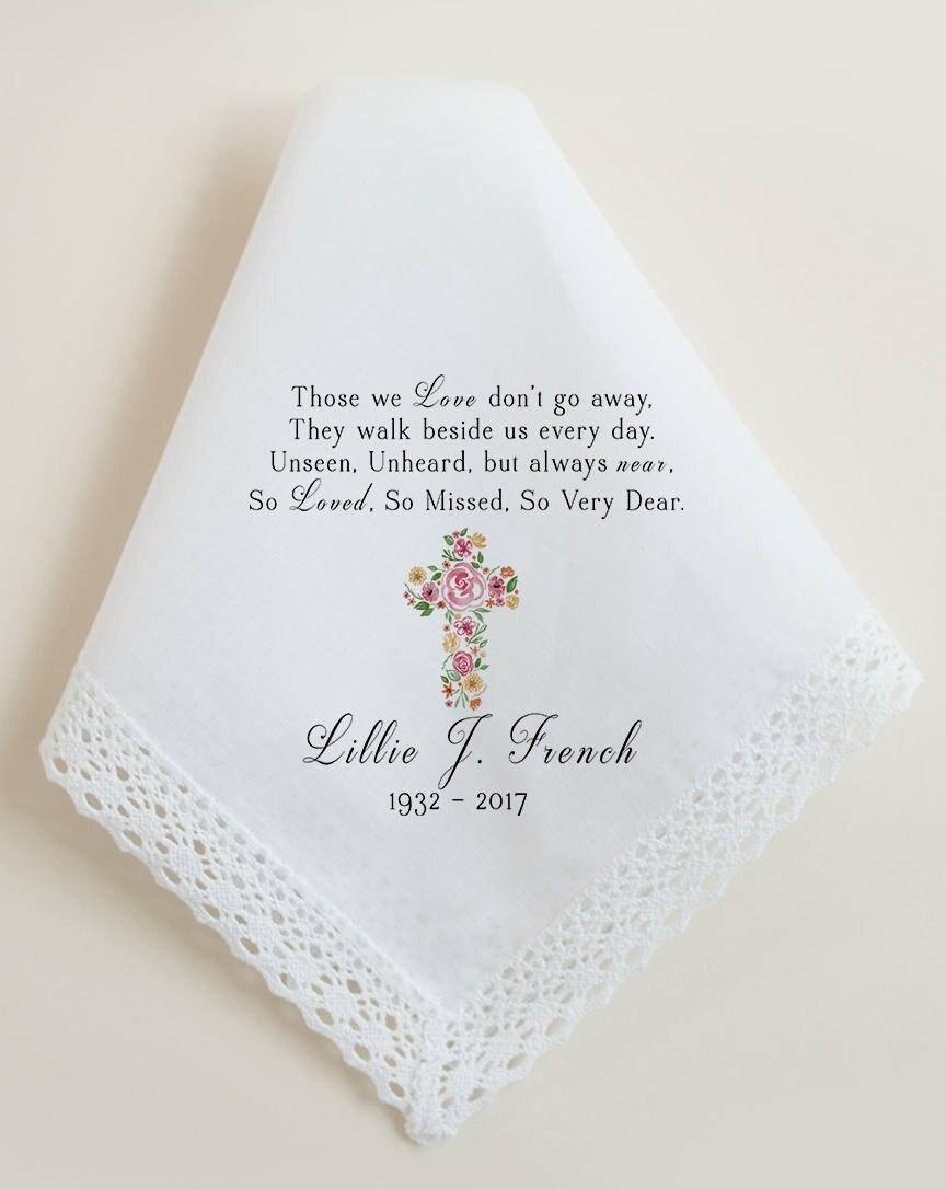 Sympathy handkerchief sympathy gift funeral condolences zoom kristyandbryce Images