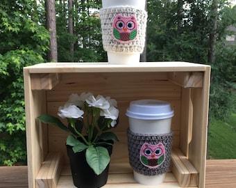 Owl Coffee Cozy/Owl Coffee Sleeve