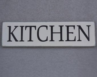Simple Black and White Farmhouse Kitchen Wood Sign, Home Decor, Kitchen Decor