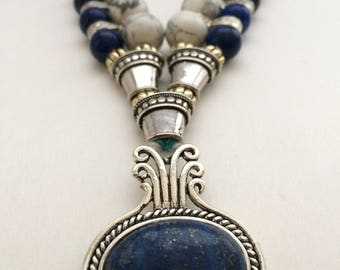 Lapis and Howlite Necklace