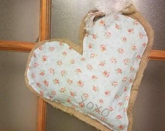 Valentine Heart Burlap Door Hanger