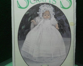 Christening Dress pattern for dolls, Syndees crafts 24011