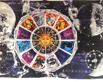 Zodiac Celestial Large Quilted Wall Hanging Eclipse