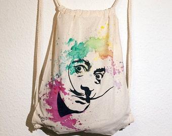 "Turnbeutel ""Salvador Dali"" (acid works) Baumwolle (individualisierbar)"