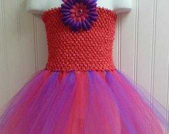 Tutu Dress Hot Pink and purple