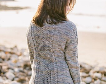 Diamond Cable with Trinity Crew Neck Pullover Pattern