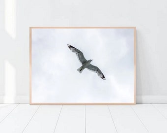Home Wall Art Print, Flying bird Art Print Poster, Printable Poster,Freedom, Instant download, digital