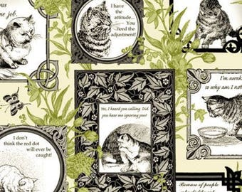 Cat Centric by Gray Sky Studio for In The Beginning Fabrics - IBFCAC1GSD-3  Taupe - 100% Cotton Fabric