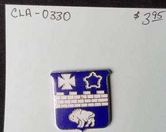 Lapel Pin- IRA blue and white