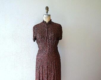 1940s Ceil Chapman dress . vintage sequin dress