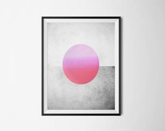 Red Planet Poster, Red Planet Print, Abstract Poster, Red Planet, Art, Wall Art, Wall Decor, Wall Decor, Printable Art, Instant Download