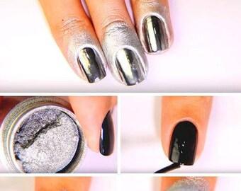 Mirror Chrome Nail Art Powder Pigment Metallic Nail Art - 2017 Nail Trend - Chrome Nails!