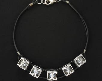 Marble Bottle Tab Necklace