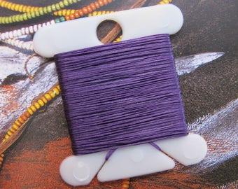 "Purple Beading Thread Super-Lon String Small Size AA Length 288"" Cording for Peyote Stitch Weaving Nymo Nylon SLon Mono Filament Pick Colors"