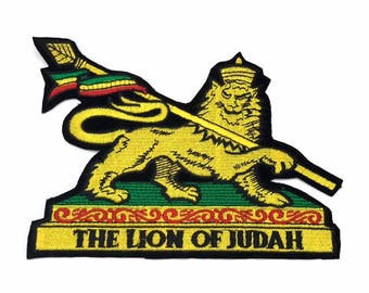 Lion of Judah Ethiopia Patch Applique Iron on or Stitch for Jackets, Accessories, Shirts, Pants