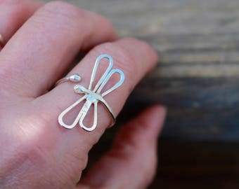 Dragonfly Ring. Two styles to choose from. Landed on finger look or Wrapped around finger style. Both are beautiful and make a great gift