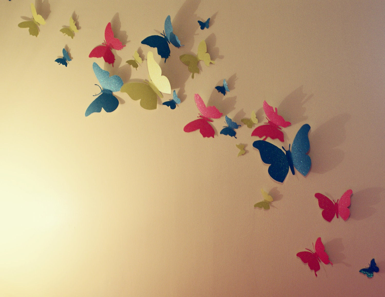 Cute Butterflies Wall Art Photos - The Wall Art Decorations ...