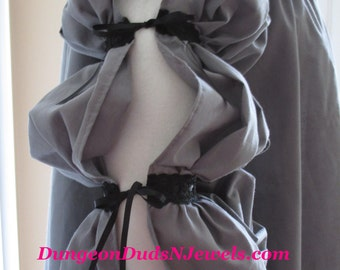 DDNJ Choose Color 3 tier Nobility Side Lace Chemise SCA Plus Custom Made ANY Size Renaissance Medieval Pirate larp Anime Victorian Cosplay