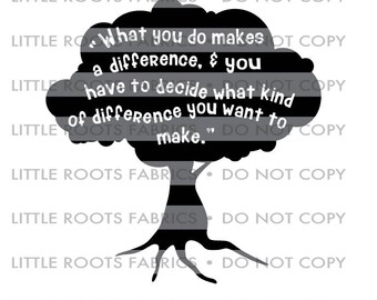Make a difference Tree- Digital Cut File