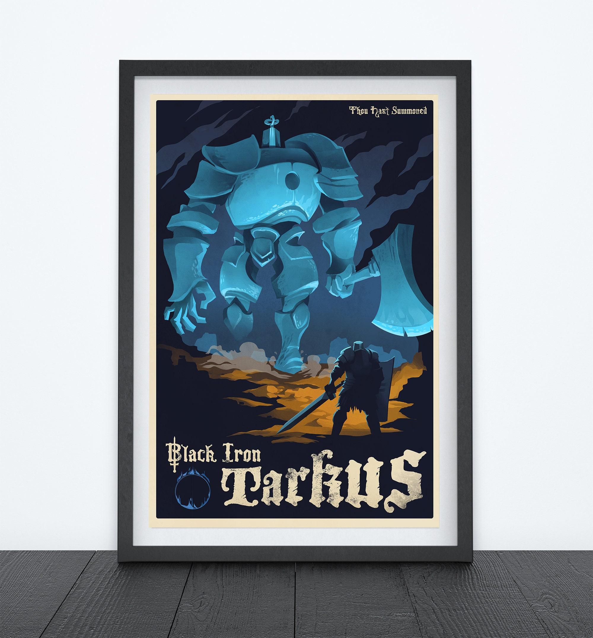 Black Iron Tarkus Video Game Art Poster Gaming Poster