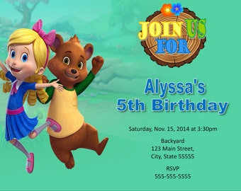 Goldie and Bear, Goldie and Bear invitation