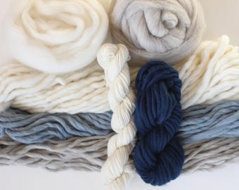 Weavers pack 10 ounces (285 grams) 100% natural yarn, Jeans...